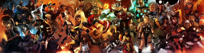 Marvel Universe - Avengers by Aspersio