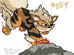 #059 Arcanine by SaintsSister47