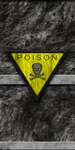 Stone/Cement Wall with Poison Sign by Hoover1979