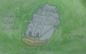A drawing for Grandma Duck by Wael-sa