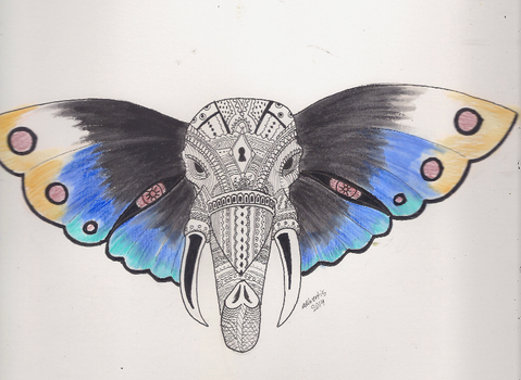 Butterfly Elephant by IcenHeart
