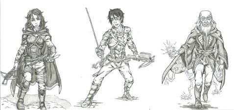Dungeons n Dragons Character Commissions by Linkinpark30101