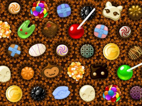 Gaia Wallpaper: Wall of Candy by pepper-tea