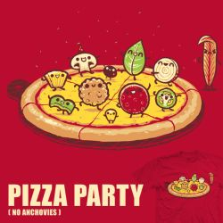 Pizza Party - tee by InfinityWave