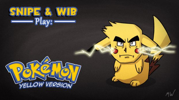 Pokemon Yellow Title Card by wibblethefish
