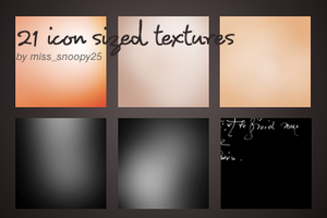 21 icon sized textures by misssnoopy25