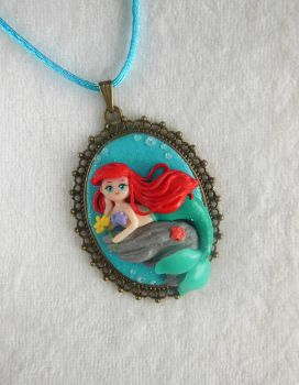 [Commission] The little Mermaid Ariel Cameo by LittleBreeze