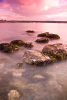rocks in water by Val-z