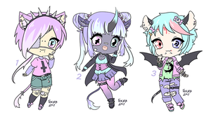 Closed Pastel Monster Batch Auction by Hecateadopt