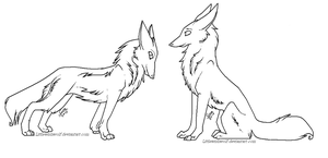 Free fox-wolf makeables by LittleWishWolf