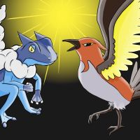 Frogadier and Fletchinder