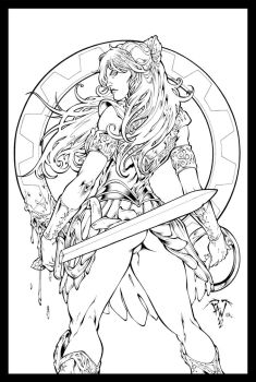 Xena Warrior Princess Inks by JL-Straw by TheInkPages