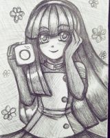 Tomoyo pencil drawing by Naughty-Savage