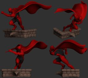 Action Hero Contest Entry WIP by The-3DArtist