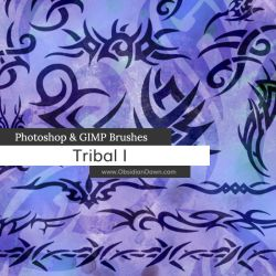 Tribal Photoshop and GIMP Brushes by redheadstock