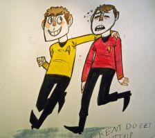 Chekov and Scotty by PVCxJackal