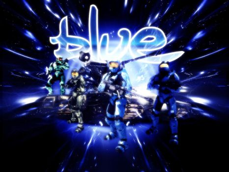 Red vs Blue Wall: Blue Team by FallenAngel1991