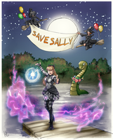 Commission: Save Sally by plangkye