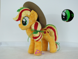 Applejack Semi-Rainbow Powered V4 Glow-in-the-Dark by kiashone
