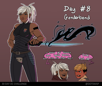 Day 8 - genderbend by Dotswap