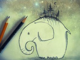 .. the little elefant .. by FlyPi