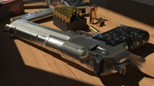 Desert Eagle .50AE Retexture Top Detail by polygonbronson