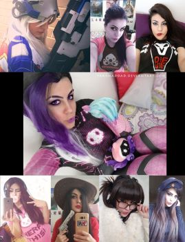 Overwatch Makeup and Cosplay by yarahaddad
