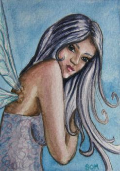 Lavender Fairy ACEO by SOM-Sharina