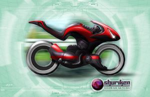 Shadowrun Schattenkatalog Motorcycle Concept by raben-aas
