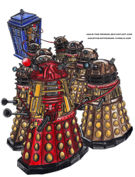 DOCTOR WHO: The Tardis-Dalek Sleigh by Adam-The-Person