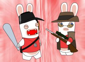 Sniper and Scout Rabbids by Gav-Imp