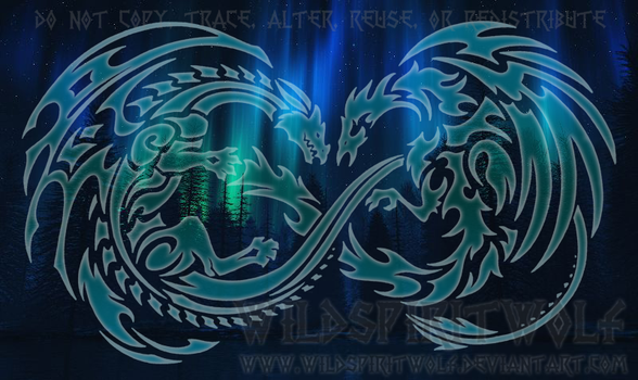 Sky Song Dragon And Phoenix Infinity Design by WildSpiritWolf