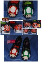 Super Mario Mushrooms Shoes by Paradox-Artistry