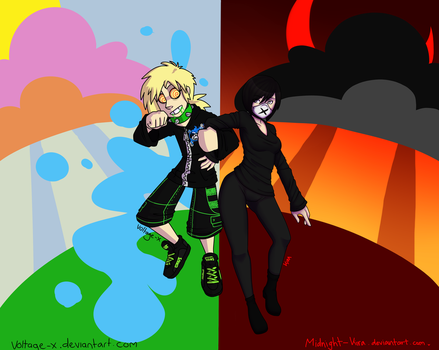 Lollipops and Shadows - collab by Voltage-X