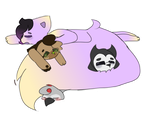 This Is What You Get For Giving Grape AFloofy Tail by FrostiiSmiiles