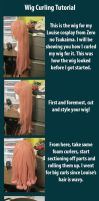 Wig curling tutorial by RuffleButtCosplay