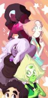 The Crystal Gems! by Pencil13