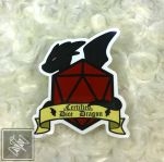 Certified Dice Dragon Sticker by ThimblesThread