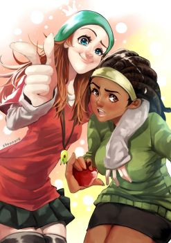 Fred X Wasabi Genderbend by shounore