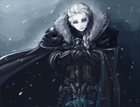 frozen elsa the lichqueen by kimbbq