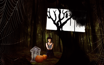 Wallpaper_Abby Sciuto (Halloween) by numb22z