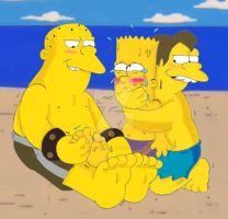 Bart Simpson: Beach'ed by KnightRayjack