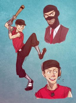 Moar TF2 Sketches by cherlye