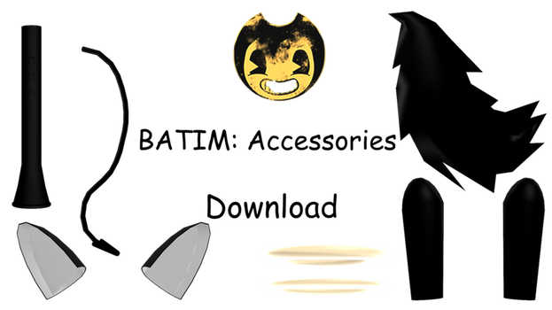 MMD: Bendy and the Ink Machine Accessories for dl by Neta-DV