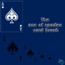 Ace of Spade Card Brush by ik3lvin