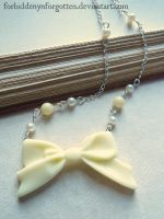Bow Necklace by Forbiddenynforgotten