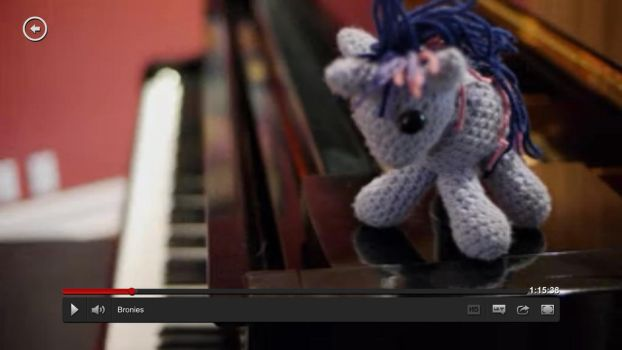 Twilight Sparkle on Tara Strong's Piano in Bronies by kaerfel