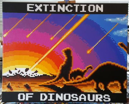 Extinction of Dinosaurs by PixelArtPaintings