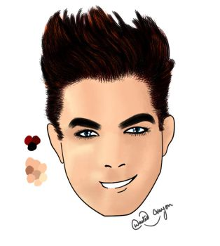 Peczek96 art trade-Adam Lambert Anime Final  by WastedCrayon