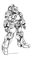Robotech CVR-2 Space Combat Armor by ChuckWalton